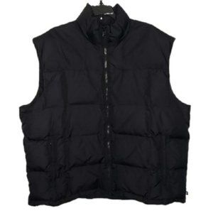 ROOTS black down filled puffer vest 2XL